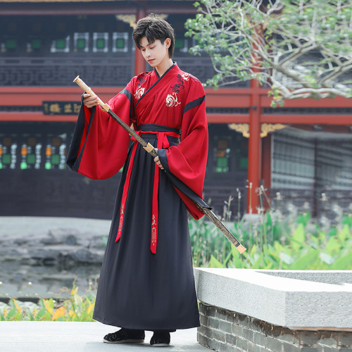 Silk Hanfu men's clothing