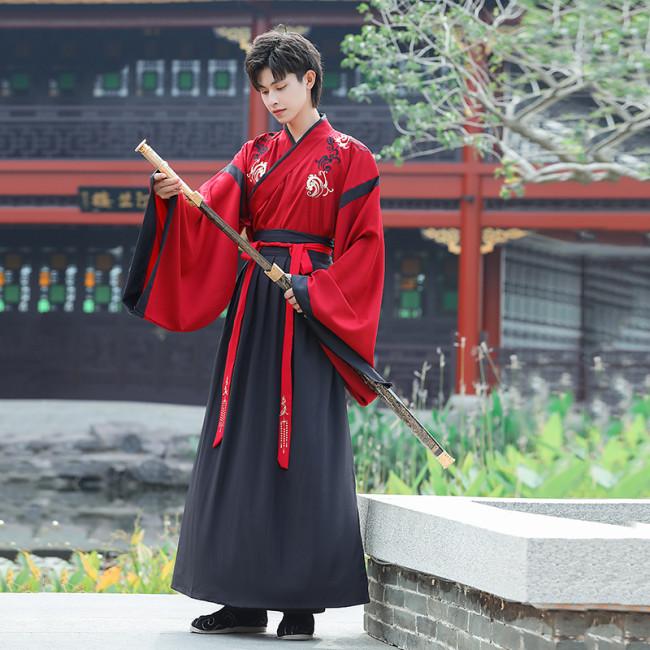 Silk Hanfu men's clothing