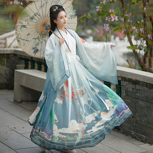 Elegant Hanfu women's clothing