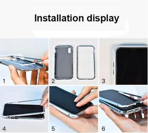 Magnetic Adsorption Flip Case for Samsung