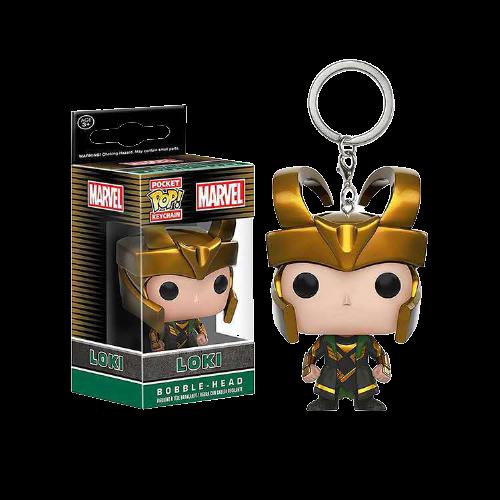 Loki Figure Keychain Pendant with Box