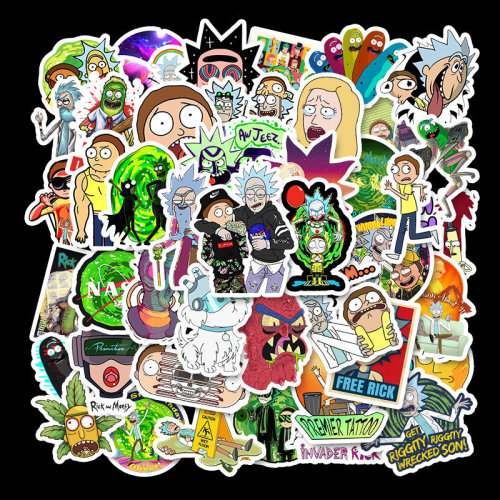 50 Rick and Morty stickers