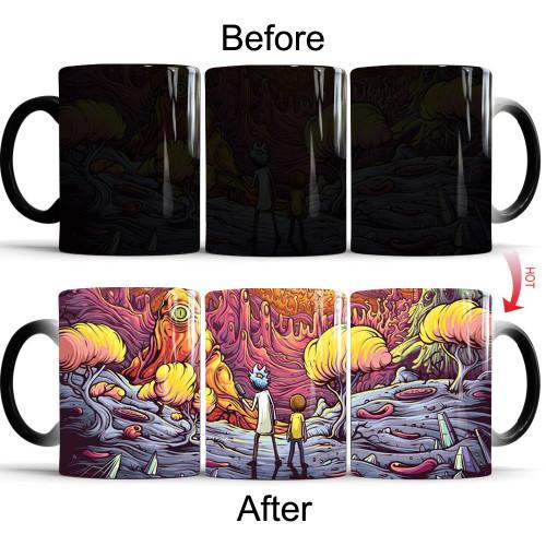Rick and Morty Color Changing Ceramic Mug
