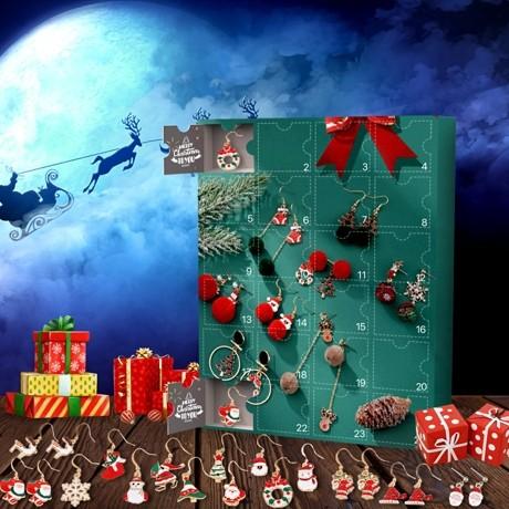 Weihnachtsohrringe Adventskalender 2021 – Enthält 24 Geschenk