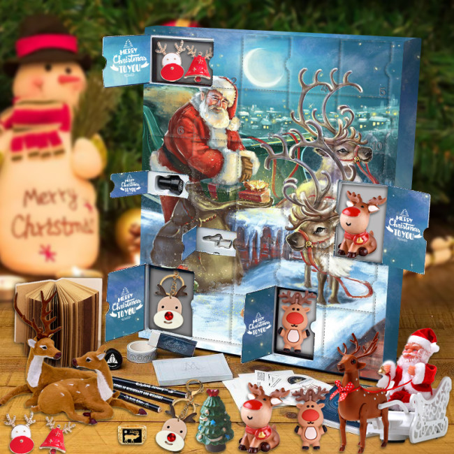 Weihnachtselch Adventskalender 2021 – Enthält 24 Geschenk