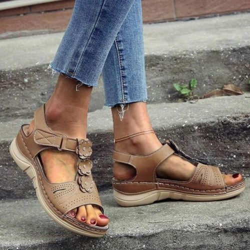 Women Flowers Comfy Orthopedic Arch-Support Wedges Sandals 2021