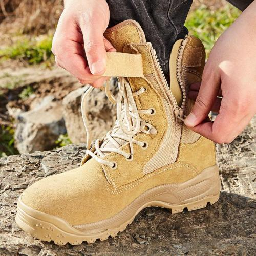 High-Top Breathable Tactical Boots Field Shock Absorption Hiking Shoes