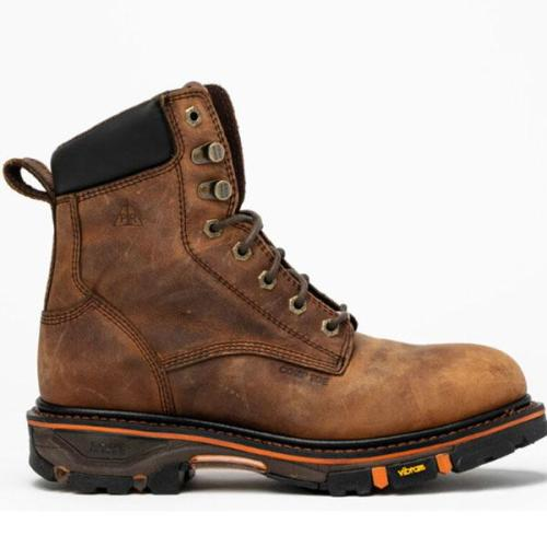 Men's Casual Sports Lace-up Chunky Heel Rivet Martin Boots