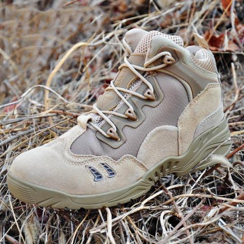 Men's Fashion Solid Color Lace Up Hiking High-top Shoes