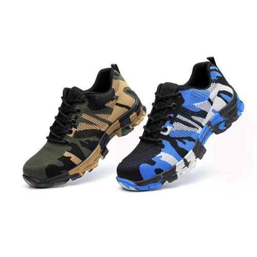 Ladies camouflage safety work protective shoes labor insurance shoes
