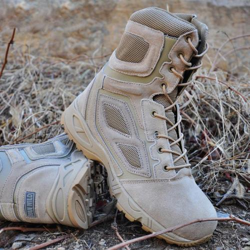 Men's casual light outside high-top lace-up hiking shoes