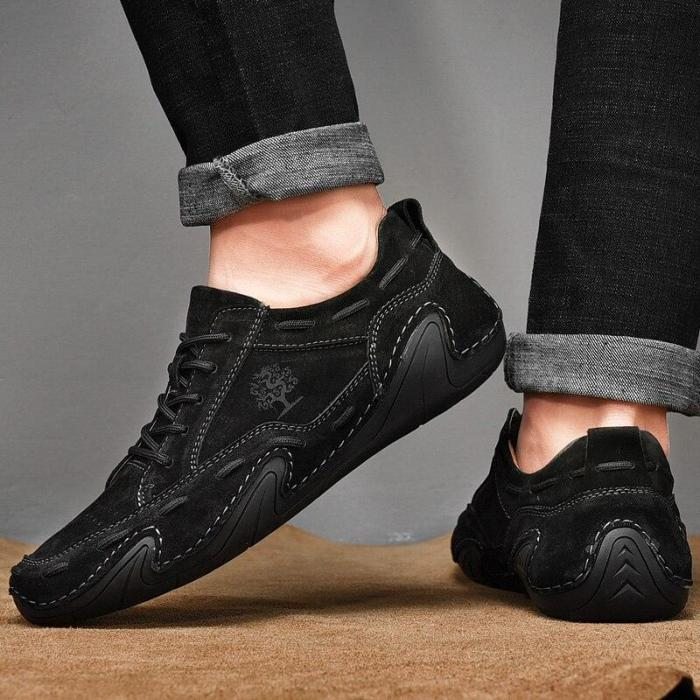 Men's Beanie Shoes Low-cut Hand-stitched Octopus Fashion All-match Casual Shoes