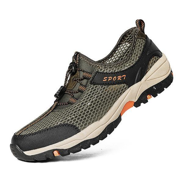 Mens outdoor sports breathable non-slip running shoes hikin
