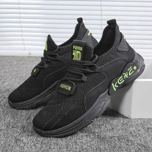 Leisure fly weave breathable mesh sneakers