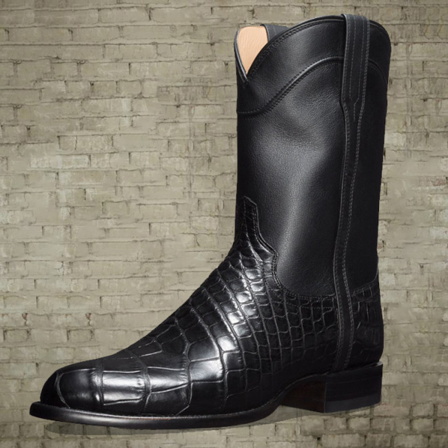 Men's European and American style western cowboy boots