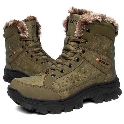Men's outdoor winter plush tactical boots