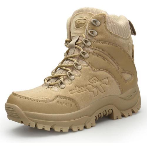 Mens outdoor hiking combat boots