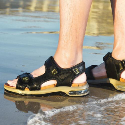 Men's leather breathable soft sole casual outdoor sandals