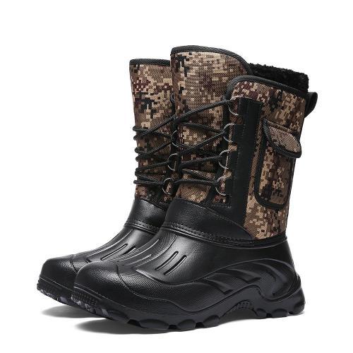 Men's Outdoor Plus Velvet Warm Camouflage Snow Boots