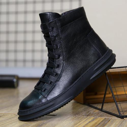 Casual plus velvet suede leather boots