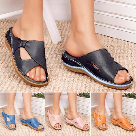 Orthopedic Comfy arch support Ladies Platform Casual Open Toe Sandals