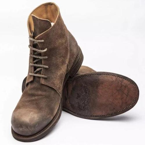 Vintage Lace-Up Boots