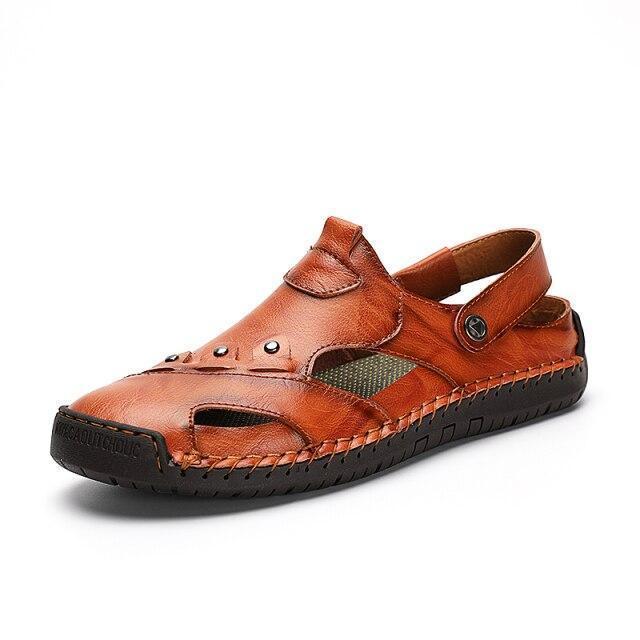 Mens Gladiator Sandals Summer Outdoor Comfortable Slip On Shoes