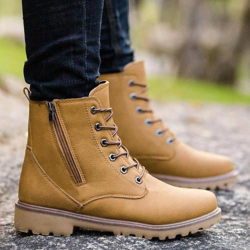 Men's high-cut tooling Martin boots