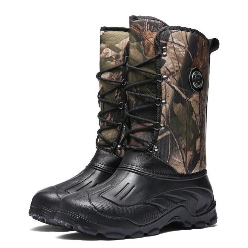 Men's warm and velvet high-top snow boots