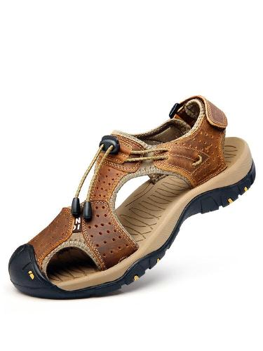 2021 Summer Men's Outdoor Sandals Men's Outdoor Beach Shoes Tide Male Large Code Baotou Mountaineering