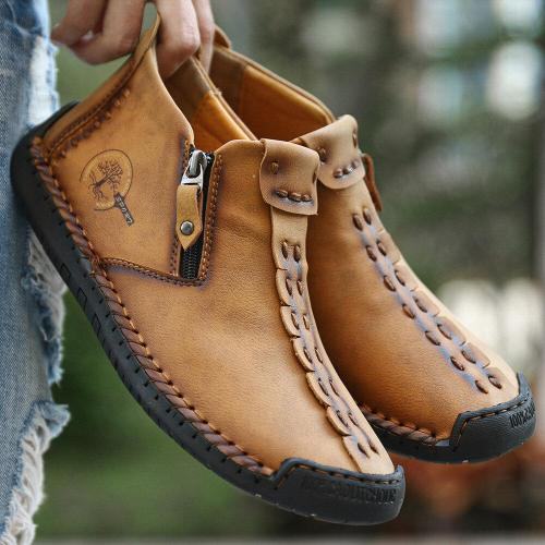 Men's casual shoes handmade retro male national style causal shoes
