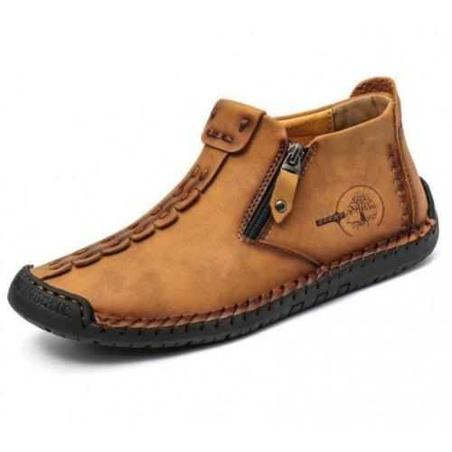 Mens handmade outdoor casual mid-top shoes
