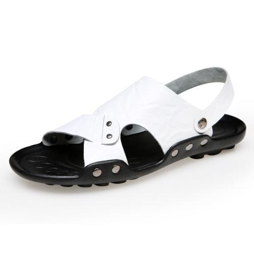 Men's leather beach shoes