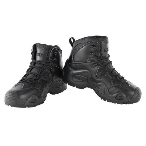 Tactical version outdoor waterproof and breathable hiking shoes for men and women mid-cut military boots tactical boots hiking shoes