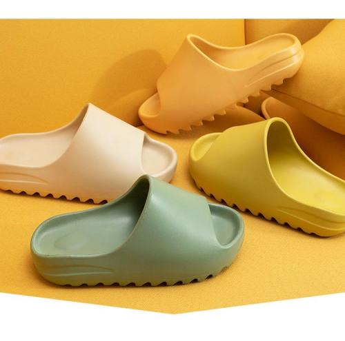 Thicken Summer Slippers  Couple Solid Color Home Indoor Shoes