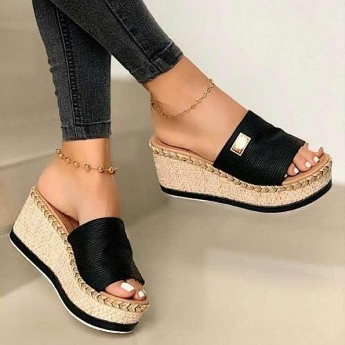 Thick Bottom Casual Womens High Heels Sandals Shoes