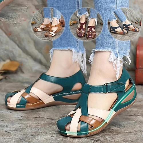 Fashion Women Sandals Waterproo Sli On Round Female Slippers