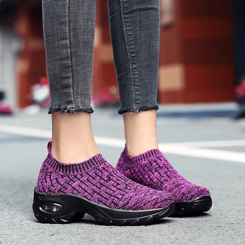 Super Comfy Breathable Slip-on Women Shoes Outdoor Running  Sneaker