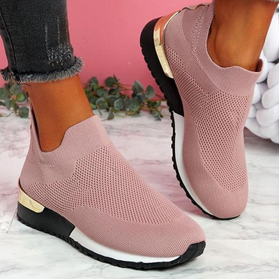 Flyknit Fabric Slip-On Arch Support Air Cushion Orthopedic Sneakers