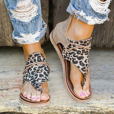 Limited edition leopard print orthopedic sandals