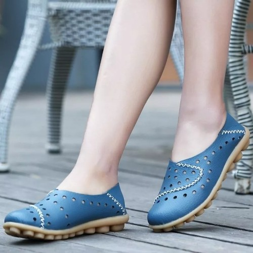 Leather Loafer Closed Toe Bunions Correct Sandals