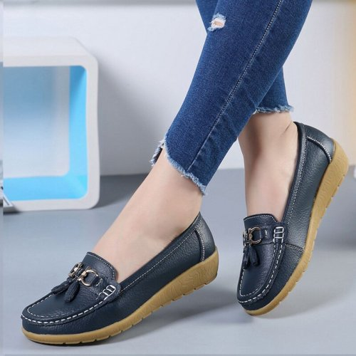 Women's Leather Breathable Moccasins Shoes (buy 2 get 10% off & free shipping worldwide)