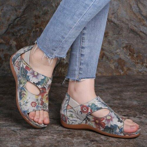 Women's Vintage Flower Pattern Sandals