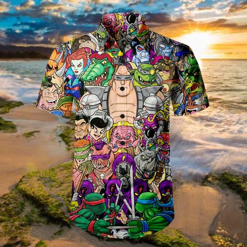 TMNT Rogues Gallery |Unisex Hawaiian Shirt