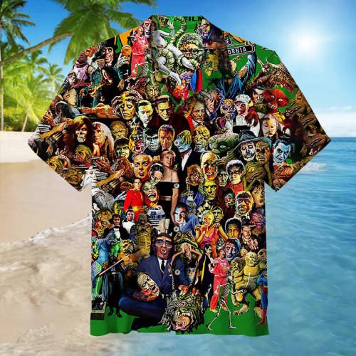 Famous Monsters of Filmland  Unisex Hawaiian Shirt