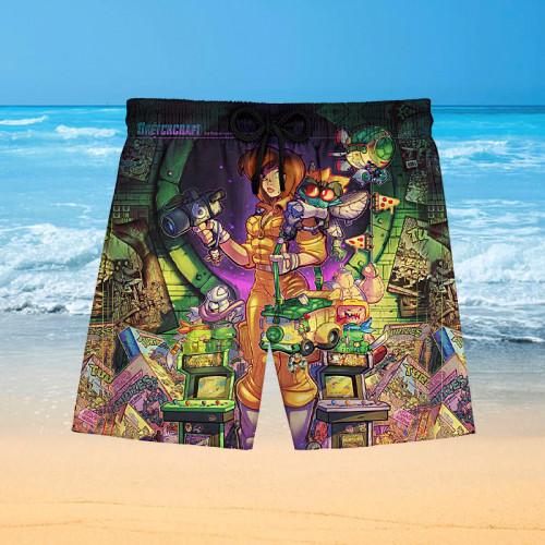 80s Radical Tribute Poster |Hawaiian Shorts