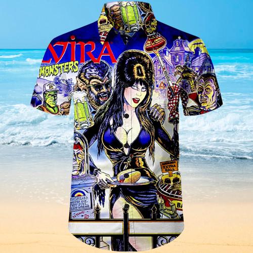 Elvira Pinball |Unisex Hawaiian Shirt