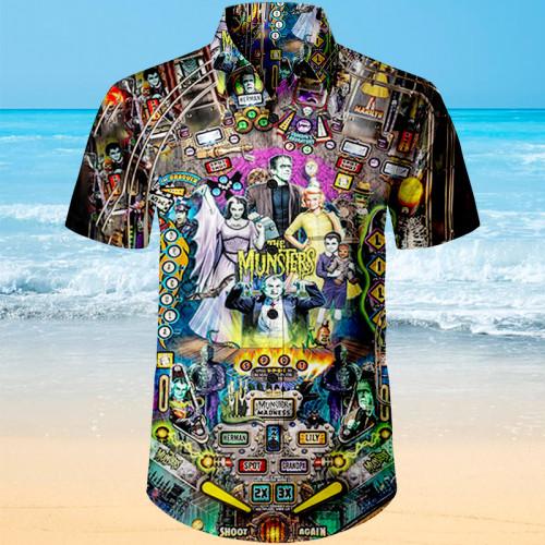 The Munsters Pinball |Unisex Hawaiian Shirt