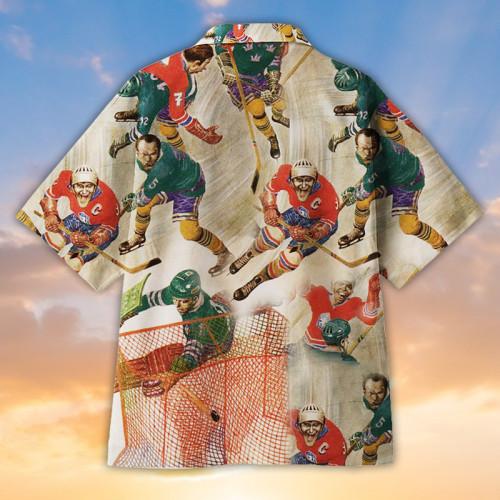 Crazy Hockey Universal Hawaiian Shirt