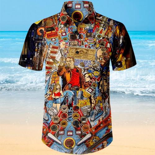 Pinball Action Arcade |Unisex Hawaiian Shirt